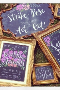 Mixed Gold Chalkboards