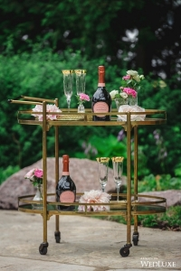 gold bar cart Oval